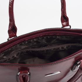 Сумка женская, отдел на молнии, наружный карман, цвет красный - фото 51783