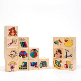 Набор кубиков «Игрушки» 16 шт.