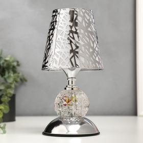Светильник с подсветкой 16185/1SL E27 серебро 14,5х14,5х26,7 см