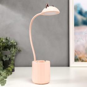 Лампа настольная c АКБ 16216/1PK LED 4Вт 3000/6000К USB розовый 8х8х44,5 см