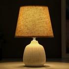 Лампа настольная 16239/1BG E14 40Вт бежевый 20х20х30 см - фото 765949