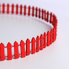 "Miniature doll ""Fence"", size 90*3 cm, color red"