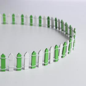 "Miniature doll ""Fence"", size 90*3 cm, color white-green"