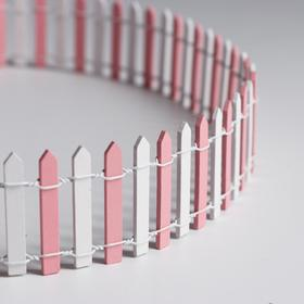 "Miniature doll ""Fence"", size 90*5 cm, color white-pink"