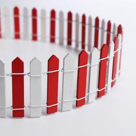 "Miniature doll ""Fence"", size 90*5.5 cm, color white-red"