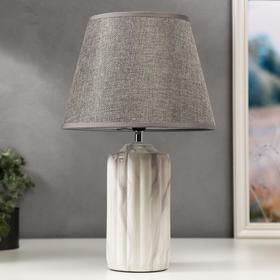 Лампа настольная 16257/1GR Е14 40Вт серый 22,5х22,5х37 см
