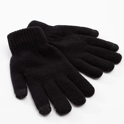 "Men's two-layer MINAKU ""Solid"" gloves, size 8-9, color black"