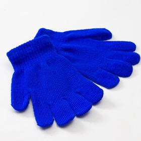 "Children's gloves MINAKU ""Monophonic"", color blue, R-R 15 (6-8 years old)"