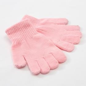 "Children's gloves MINAKU ""Plain"", color light pink, R-R 15 (6-8 years old)"