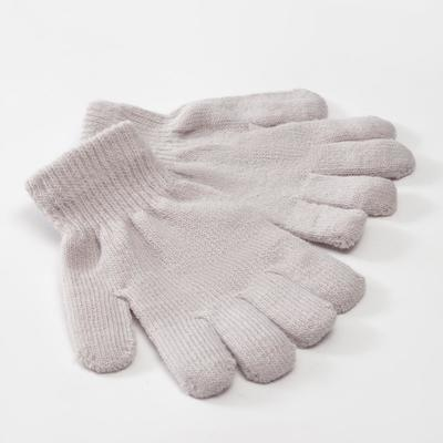 "Children's gloves MINAKU ""Plain"", color gray, R-R 15 (6-8 years old)"