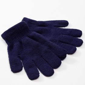 "Children's gloves MINAKU ""Plain"", color blue, R-R 16 (10-12 years old)"