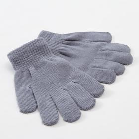 "Children's gloves MINAKU ""Plain"", color dark gray, R-R 15 (6-8 years old)"