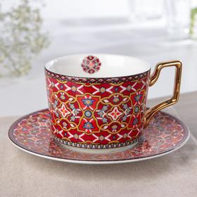 "Coffee pair ""Jacqueline"" 220 ml, Cup 11, 5x8, 5x6, 8 cm, saucer"