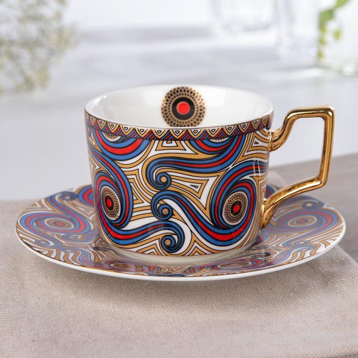 Кофейная пара «Жаклин», чашка 220 мл, блюдце d=15 см - фото 346972