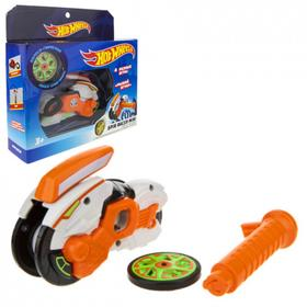 Машина «Spin Racer. Рыжий Ягуар» 12 см, пуск. мех с диском, цвет оранжевый