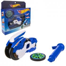 Машина «Spin Racer. Ночной Форсаж» 12 см, пуск. мех с диском, цвет синий