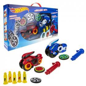 Машина Spin Racer. Deluxe Set, 16 см 2 пуск.мех + 3 диска, с аксес