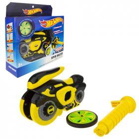 Машина «Spin Racer. Желтый Призрак» 16 см, пуск. механизм с диском, цвет желтый