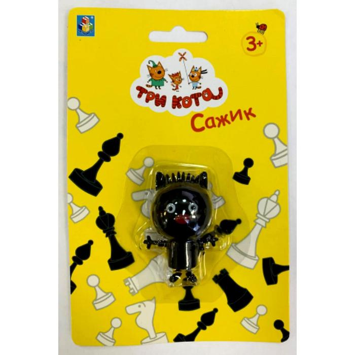 Игрушка «Три Кота. Сажик» 5,2 см, подвижные ножки и ручки - фото 76723536
