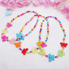 """The beads baby """"Vibracula"""" butterfly frosted, colored"""