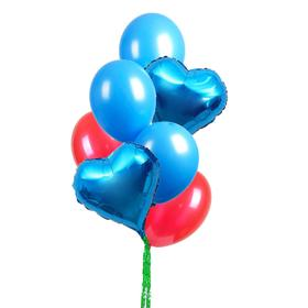 """Bouquet of balloons """" Happy Holiday!"""", set of 7 PCs."""
