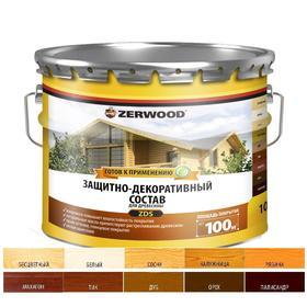 Защитно-декоративное состав ZERWOOD ZDS белый 10л