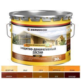 Защитно-декоративное состав ZERWOOD ZDS бесцветный 3л
