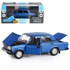 Машина металлическая «ВАЗ 2107» 1:24, синий, инерция, открываются двери, капот и багажник