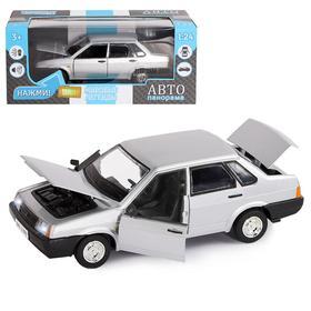 Машина металлическая «ВАЗ 21099» 1:22, инерция, открываются двери, капот и багажник, цвет серебро