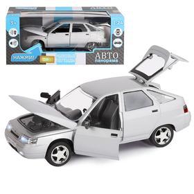 Машина металлическая «ВАЗ 2112», инерция, открываются двери, капот и багажник, цвет серебро