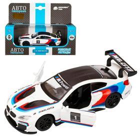 Машина металлическая BMW M6, 1:43, инерция, открываются двери, цвет белый