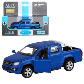 Машина металлическая Volkswagen Amarok 1:46, инерция, открываются двери, цвет синий