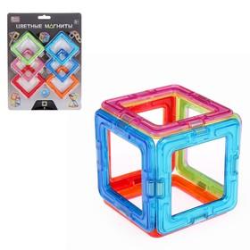 Конструктор магнитный «Цветные магниты», 6 деталей