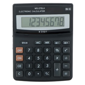 Калькулятор настольный, 8-разрядный, MS-270LA, двойное питание