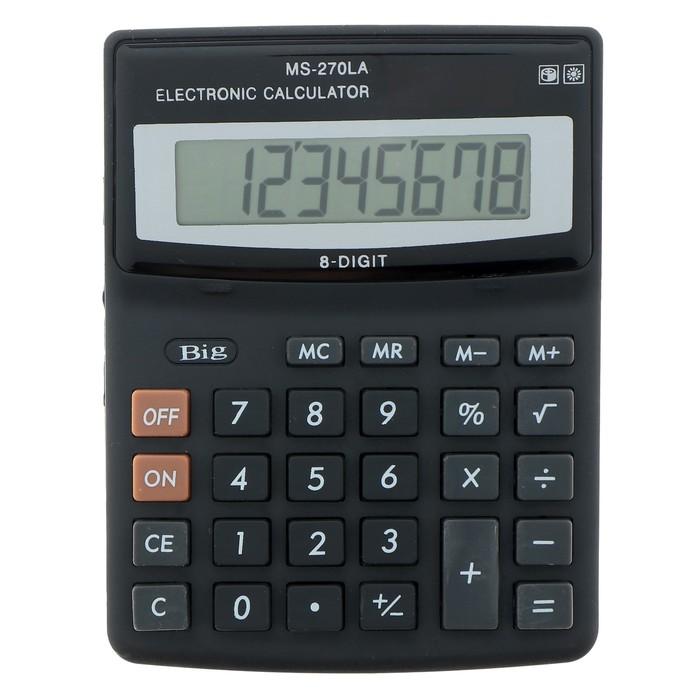 Калькулятор настольный 08-разрядный MS-270LA двойное питание