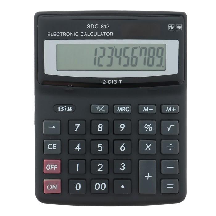 Калькулятор настольный, 12-разрядный, SDC-812V - фото 447543795
