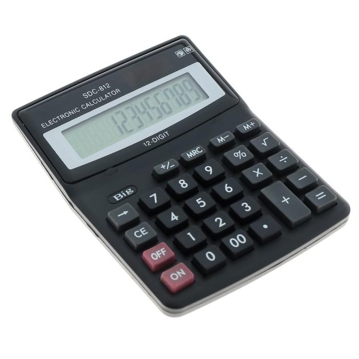Калькулятор настольный, 12-разрядный, SDC-812V - фото 447543796
