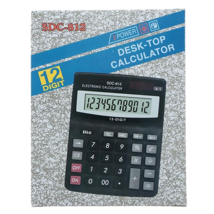 Калькулятор настольный, 12-разрядный, SDC-812V - фото 447543799