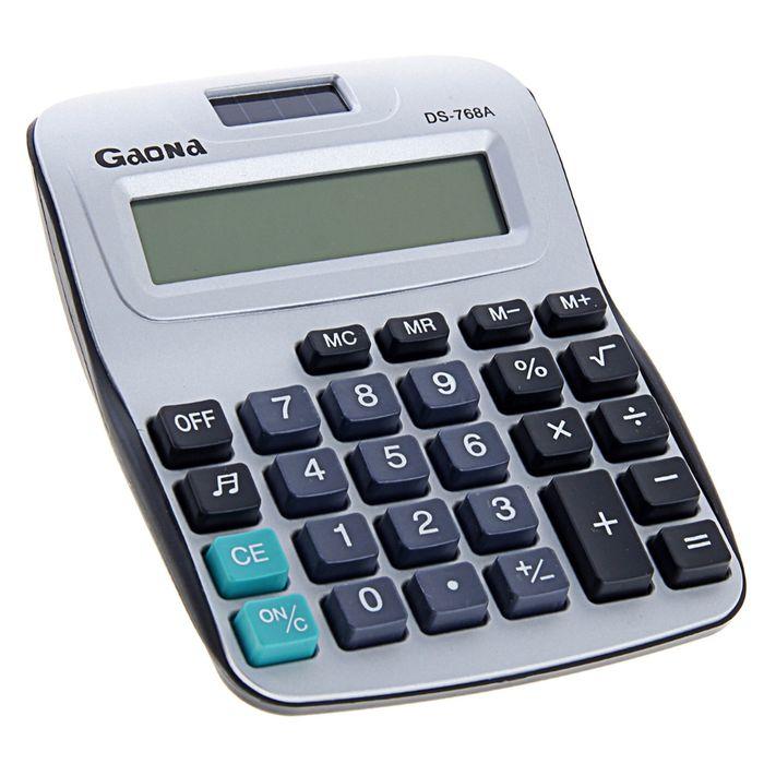Калькулятор настольный 08-разрядный DS-768A двойное питание с мелодией
