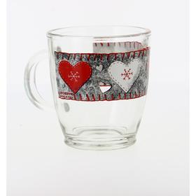 Чашка «Войлочные сердечки» 380 мл
