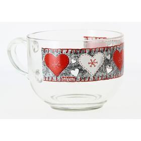 Чашка для завтрака «Войлочные сердечки» 700 мл