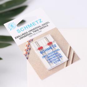 Household sewing machine needles, double universal (2pcs) 130 / 705H ZWI No. 90 / 3.0 Schmetz.