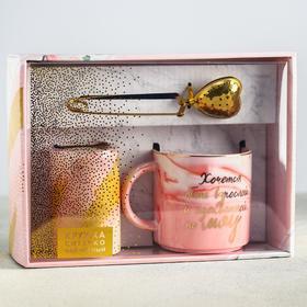 Подарочный набор «Мяу»: кружка 350 мл, сито, чай чёрный 25 г.