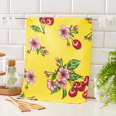 Waffle towel Collorista Cherry color yellow 35*50,100% HL, 160 g / m2