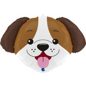 """Фольгированный шар 33"""" «Голова собаки», фигура"""