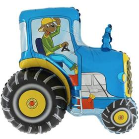 """Фольгированный шар 29"""" «Синий трактор», фигура"""