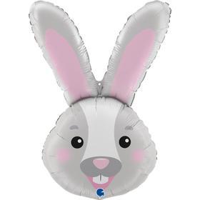 """Фольгированный шар 37"""" «Голова зайца», фигура"""