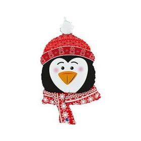 """Фольгированный шар 34"""" фигура """"Голова пингвина""""  1207-4070"""