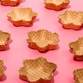 Waffle ice cream dish is not glazed, 150 PCs