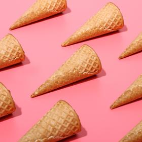 Waffle cones with a smooth edge (N-110, D-48), 225 PCs